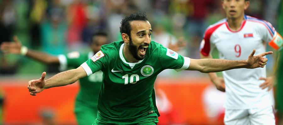 Arabia Saudita no parte como favorita para hacer un buen papel en la Copa Mundial FIFA 2018.