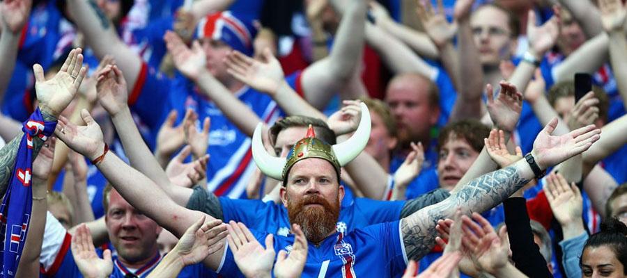La afición de Islandia es todo un espectáculo en Rusia 2018.